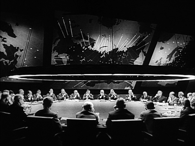 The War Room and the Big Board in Dr. Strangelove or: How I Learned to Stop Worrying and Love the Bomb (Wikimedia)
