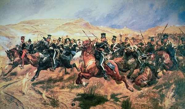 """Charge of the Light Brigade"" by Richard Caton Woodville, Jr. (Wikimedia)"