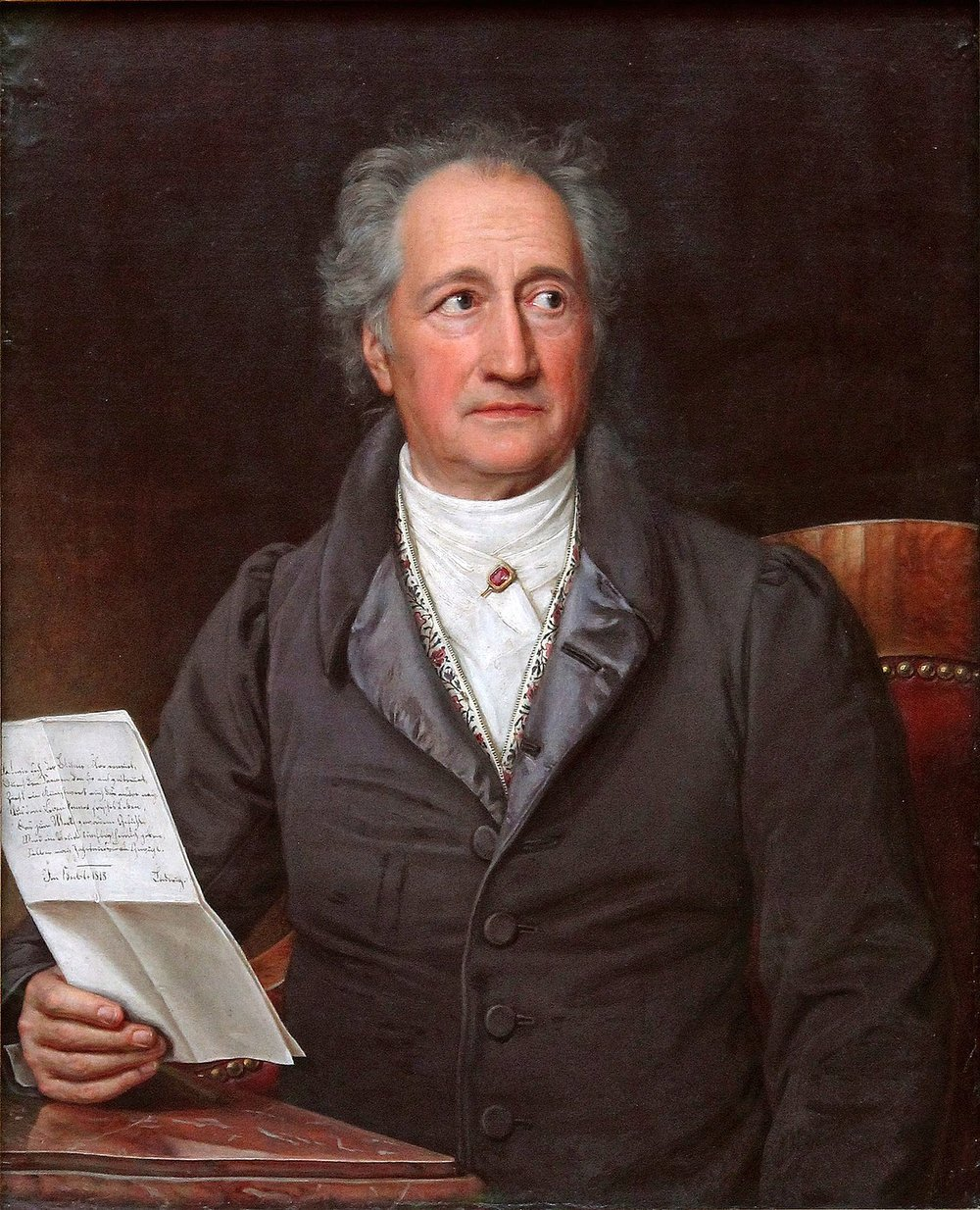 Johann Wolfgang von Goethe at age 79, painted by Joseph Karl Stieler (Neue Pinakothek/Wikimedia)