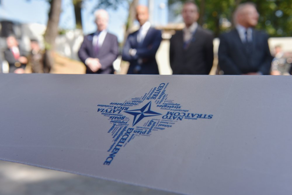Inauguration of the NATO Strategic Communication Center of Excellence in Riga, Latvia on August 20, 2015. (AFP)