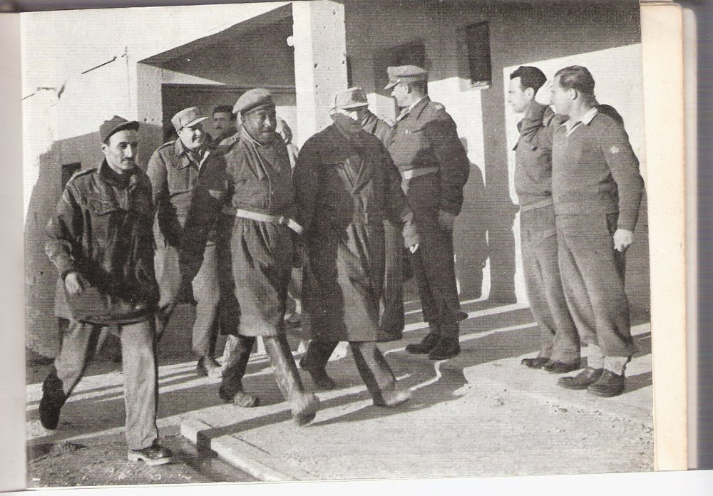 Said Taha Bey, commander of Egyptian forces in the Faluja pocket, heading to negotiate his surrender (Wikimedia)