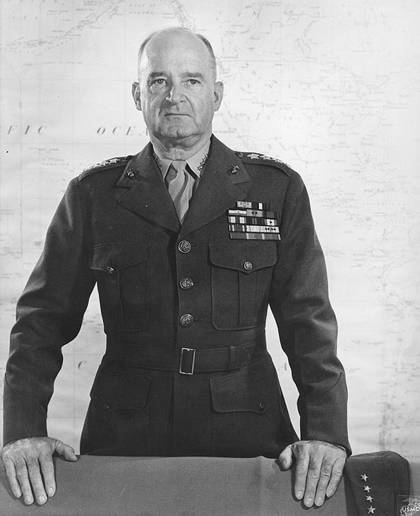 General Alexander A. Vandegrift, USMC, Commandant of the Marine Corps, 1944-1947. (USMC Photo/Wikimedia)