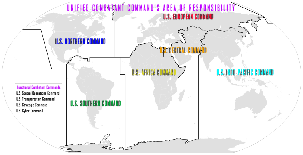 U.S. Geographic Combatant Command Map (Wikimedia)