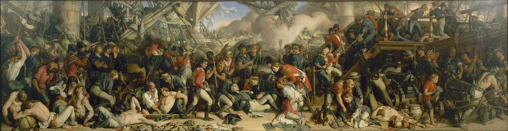"""""""The Death of Nelson"""" painted by Daniel Maclise (Wikimedia)"""