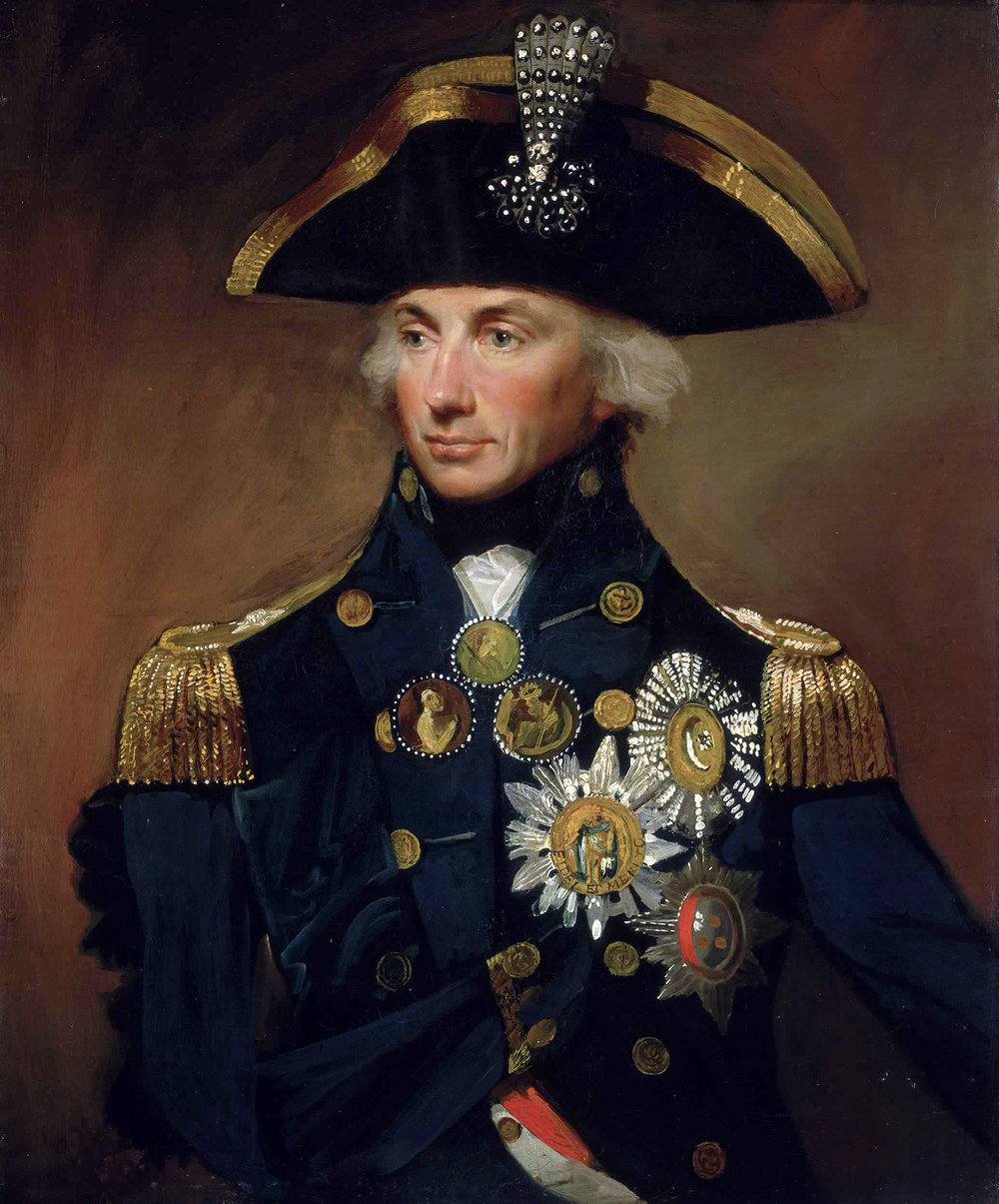 Sir Horatio Nelson as a Rear Admiral painted by Lemuel Francis Abbott (Wikimedia)