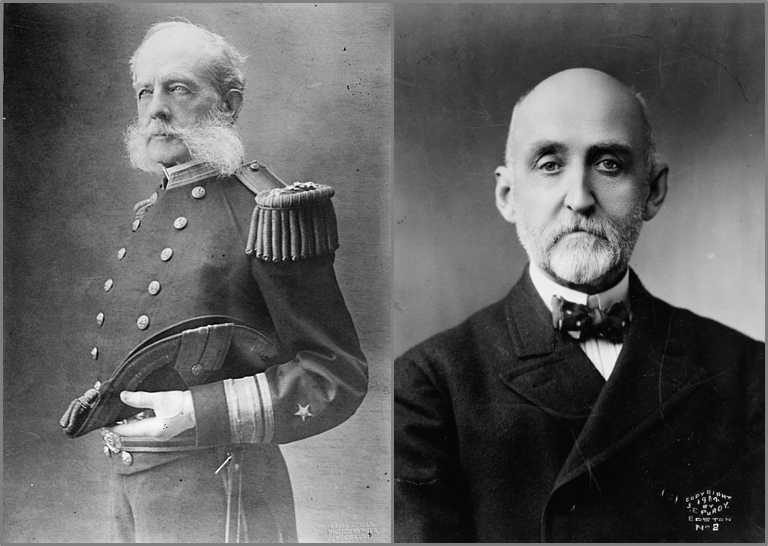 Admiral Stephen B. Luce and Admiral Alfred Thayer Mahan (Wikimedia)