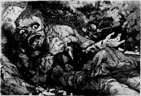 """Wounded Man, Autumn 1916, Bapaume"" by Otto Dix (Museum of Modern Art)"
