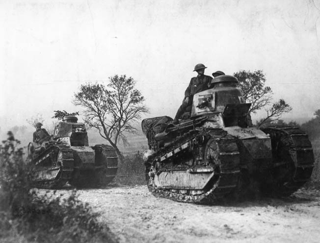 Renault FT Tanks operated by the U.S. in World War I (U.S. World War One Centennial Commission)