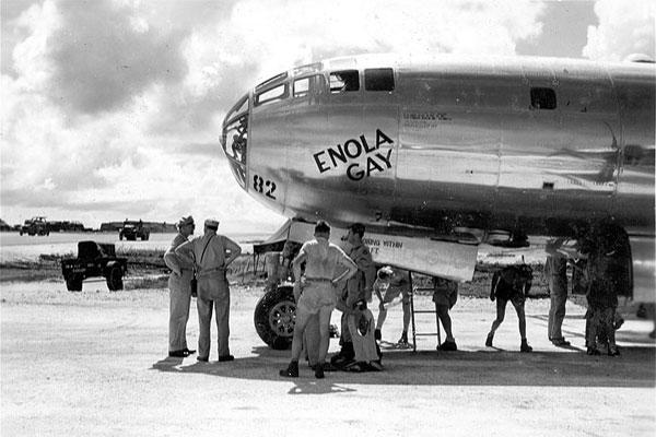The Enola Gay before the mission to bomb Hiroshima. (Military.com)