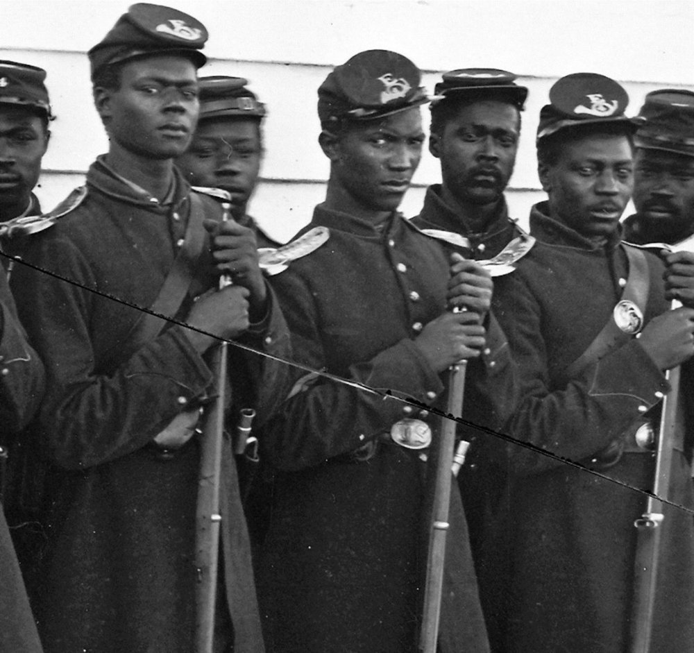 The 54th Massachusetts, the first African American regiment organized in the Army of the Potomac in 1863. (Public Domain)