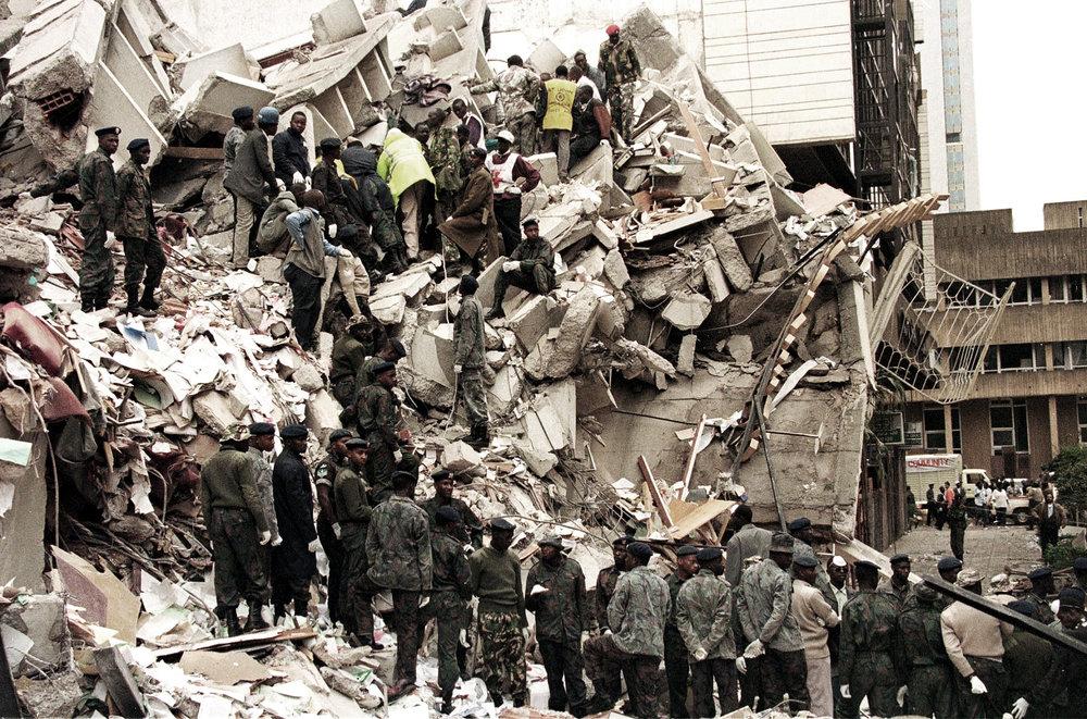 Scene of the Nairobi bombing. (Memorial Park, Kenya)