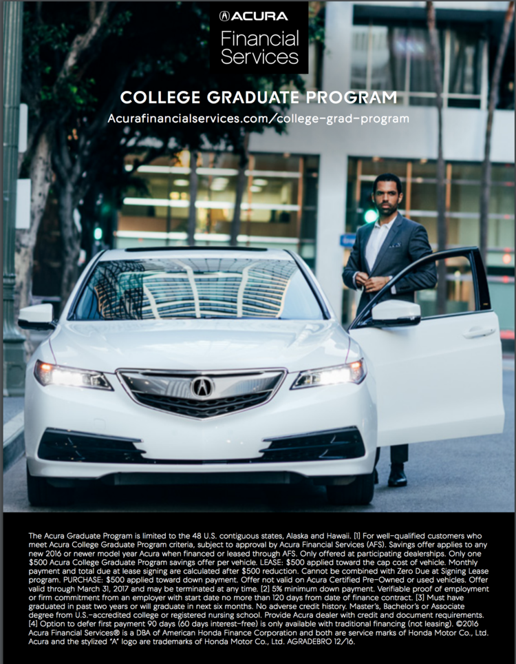 Acura Commercial Lifestyle Financial Services