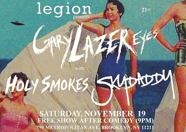 Next Saturday night.