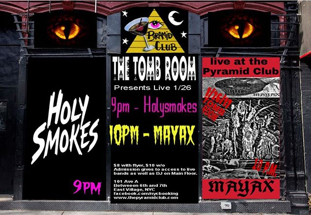 See you in the Tomb Room at @thepyramidclub.