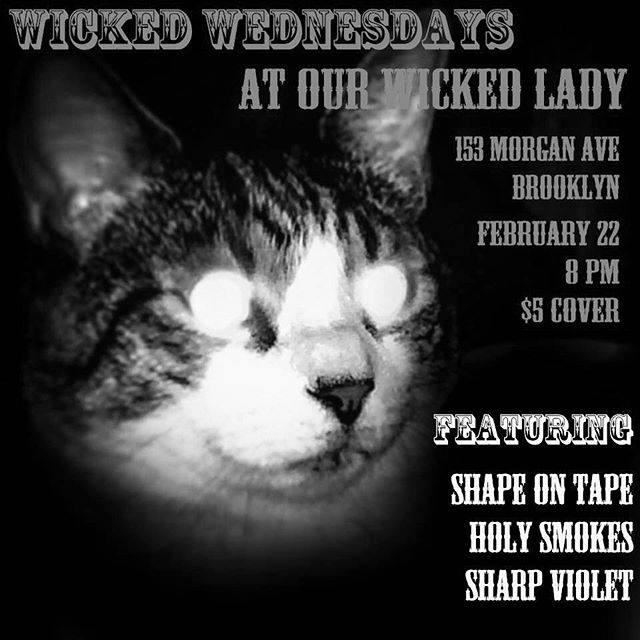 Tomorrow night at @ourwickedlady! The final shell shock. See you then.