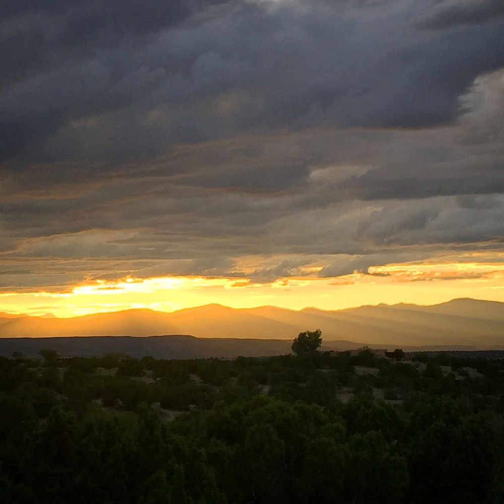 Sunset over Bandelier National Monument