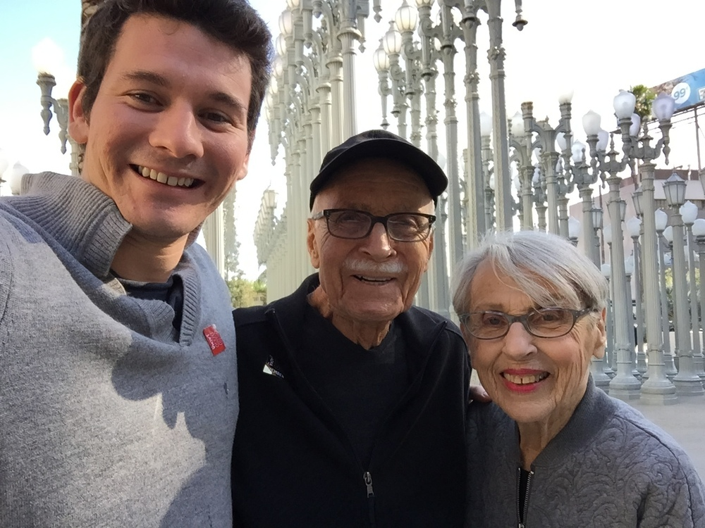 At the museum with my grandparents
