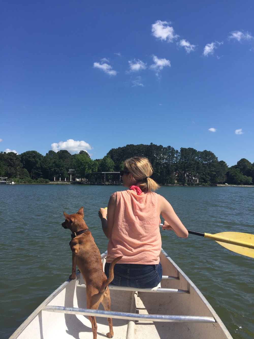 Liza and Lucky on the Chesapeake Bay