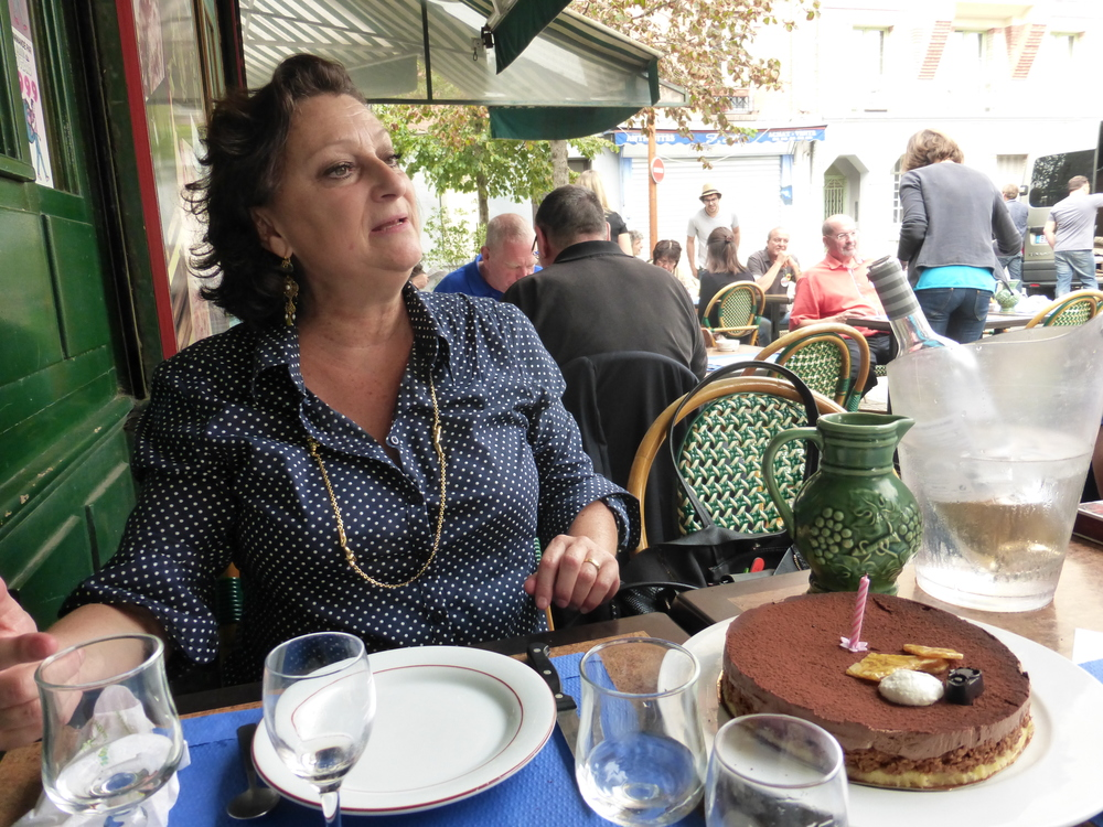 Danielle knew exactly what we should order for lunch and the cafe owner surprised her with a birthday cake.