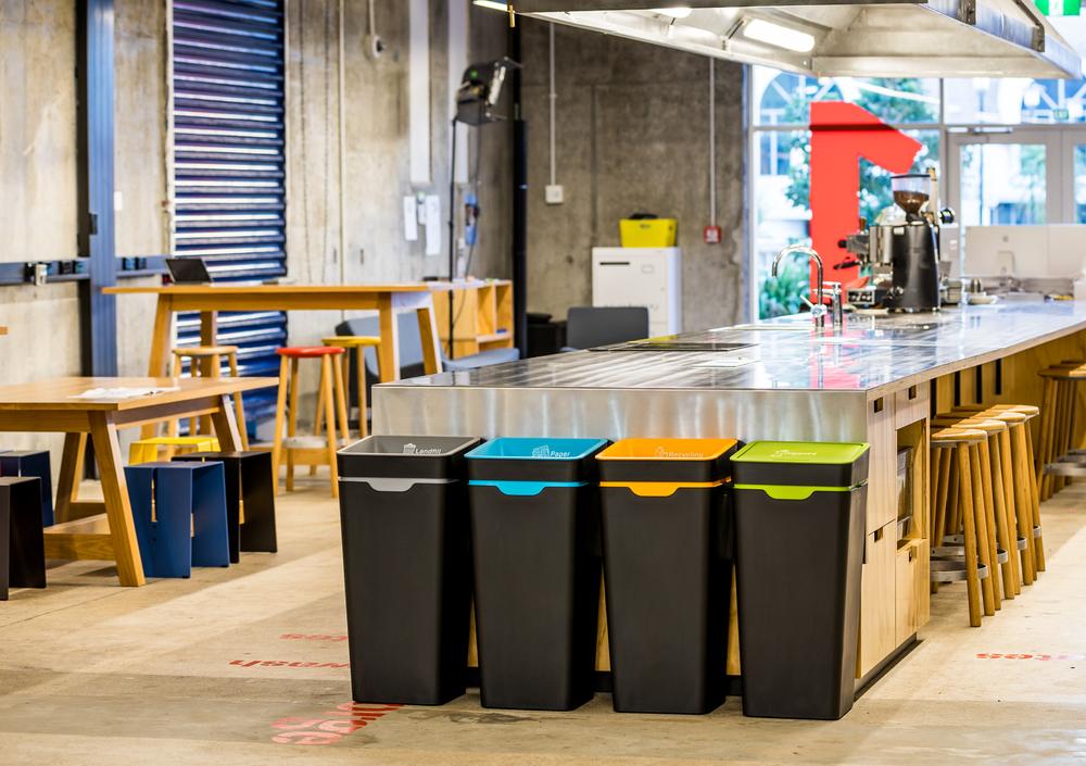 Office Recycling Bin Station