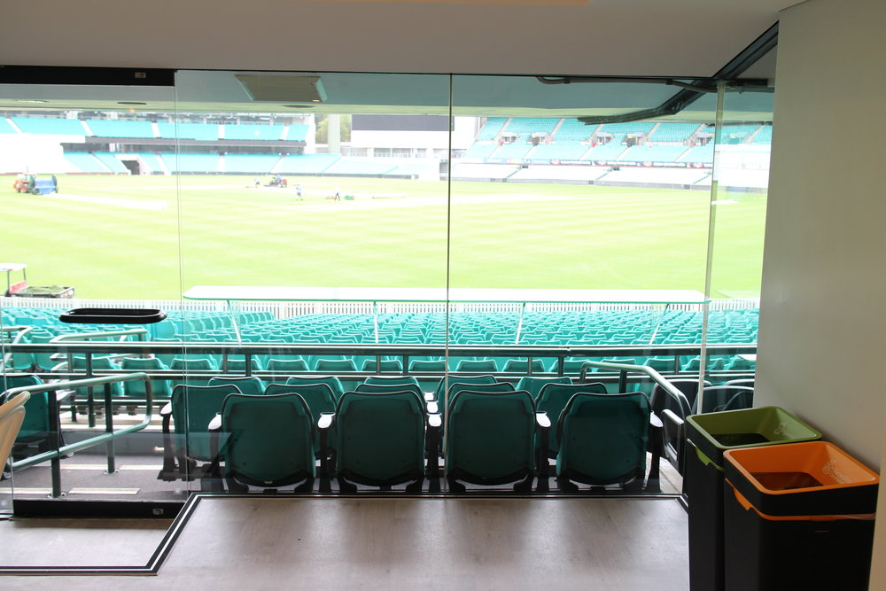 Some days I wish I was one of our bins - these guys get to watch every match at the Sydney Cricket Ground.