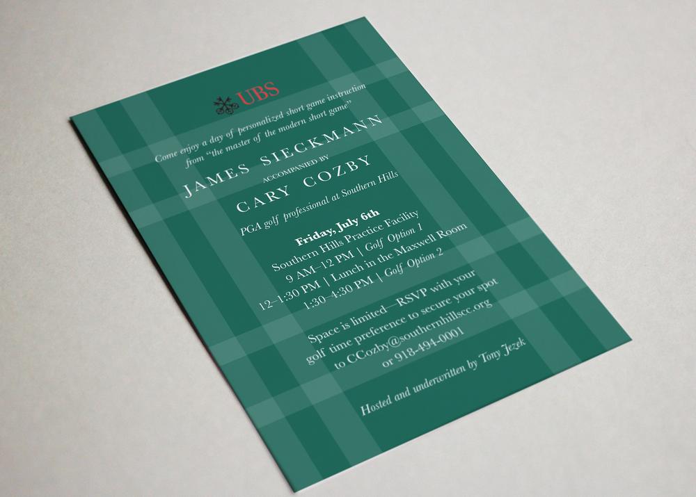 UBS Golf Invitation Design