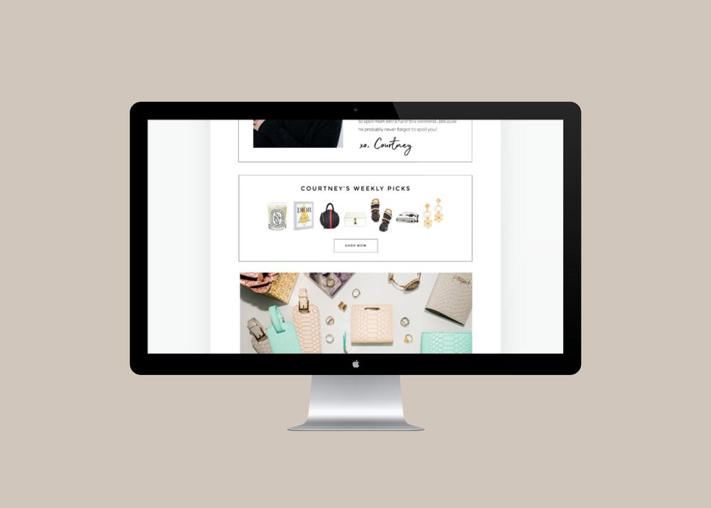 Courtney Kerr Newsletter Design