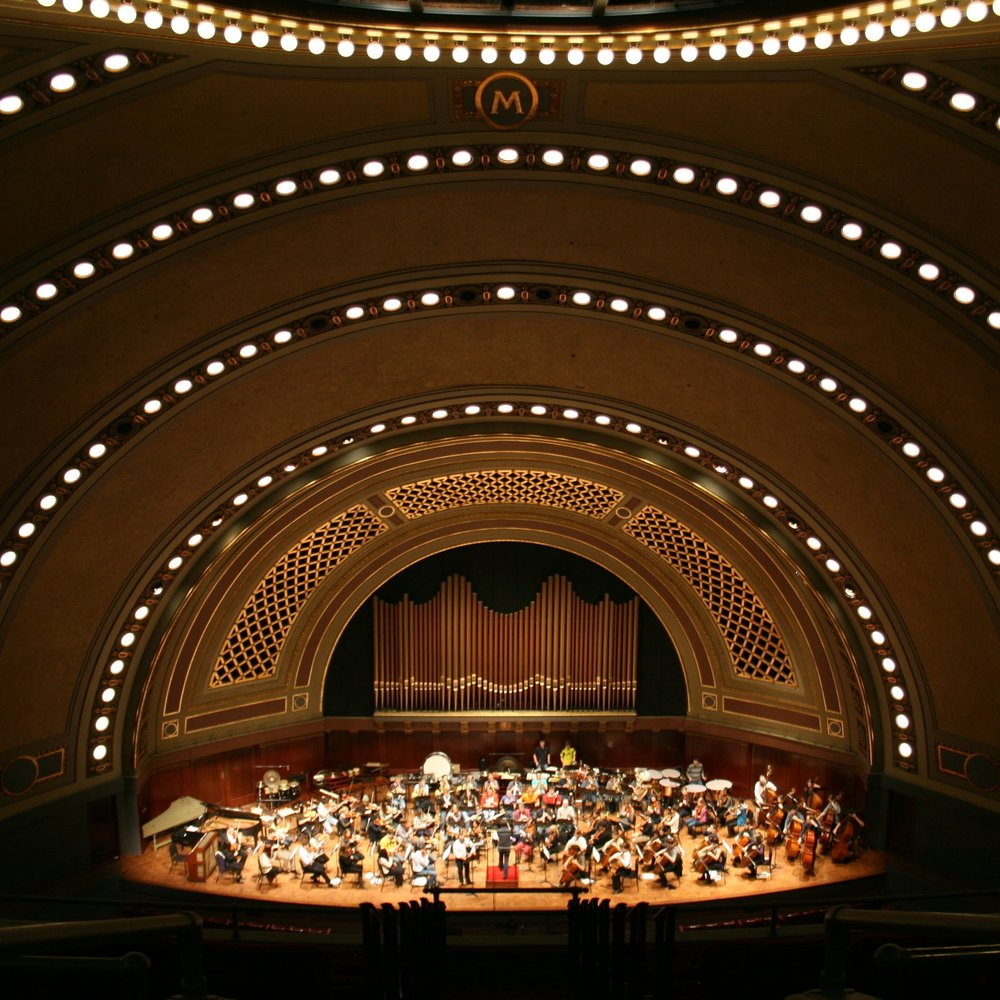 Andrew Bova and The University Symphony Orchestra at Hill Auditorium, University of Michigan Ann Arbor