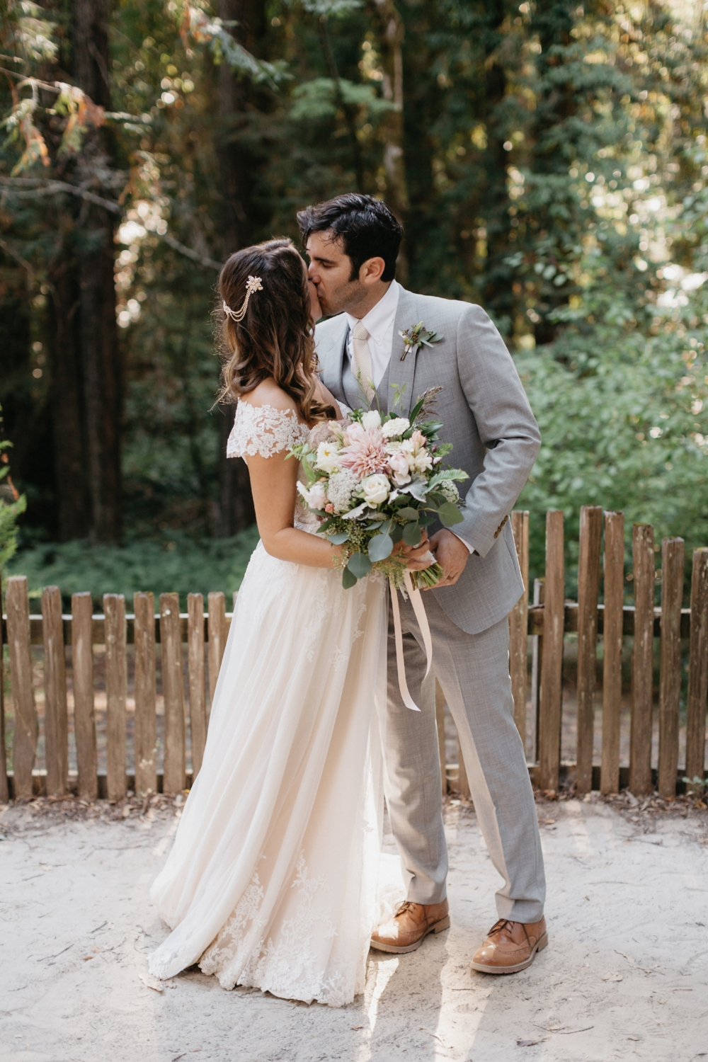Romantic Redwoods Wedding With B-Side Farm Floral Design, Photographed by Nirav Patel