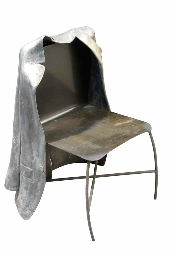 Chair with Jacket, 1996, aluminium, bronze, 88 x 60 x 30 cm