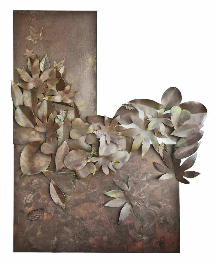 Florium, 2001,oxidized steel, 115 x 145 x 12 cm