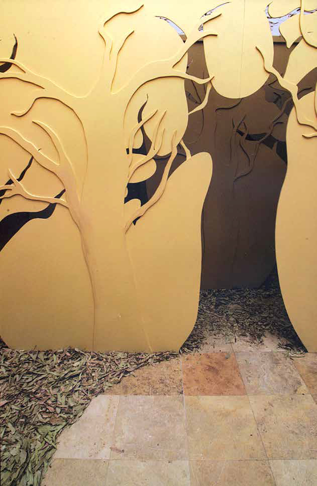 Forest of Shadows, 2008, MDF fibre board, 250 x 300 x 400 cm, installation