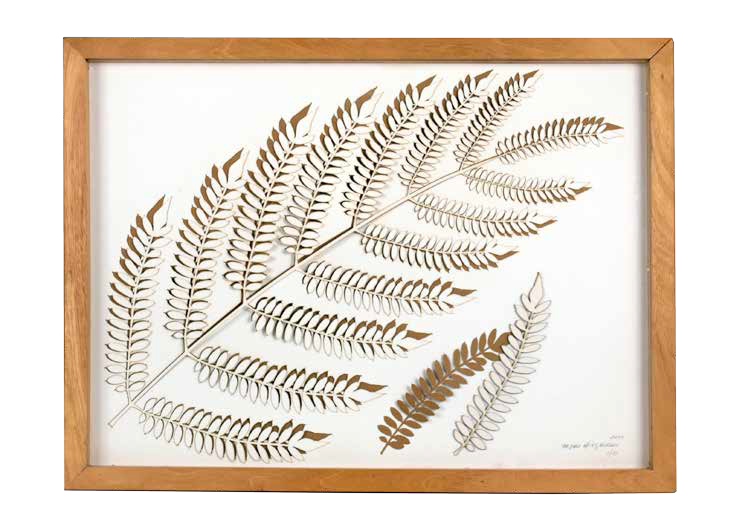Fern I, 2011, Laser cut cotton paper, 63 x 48 x 3 cm