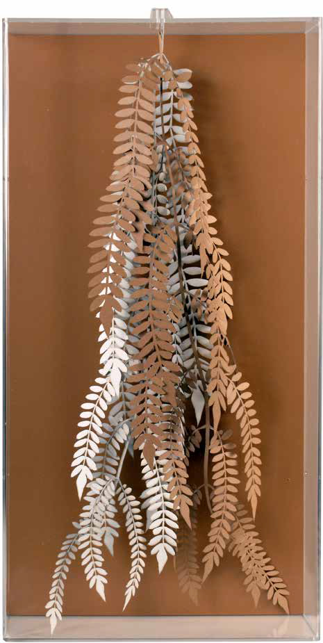 Hanging fern, 2012, laser cut cotton paper, 57 x 57 x 3 cm