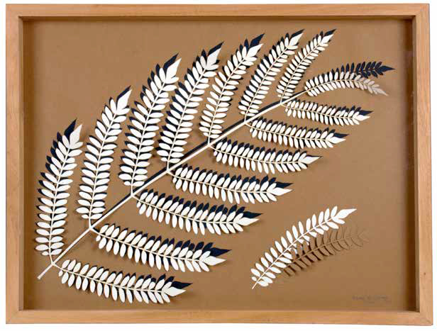 Fern III, 2011, Laser cut cotton paper, 63 x 48 x 3 cm