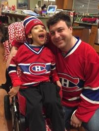 Woody and Maksim are ready for hockey season.