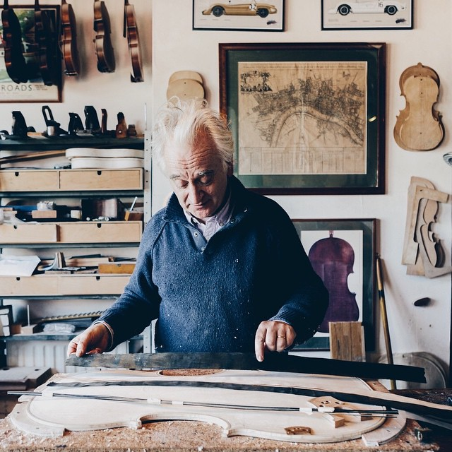 See www.wessel.co for the feature on John Dilworth the violin, viola and cello maker!  #VSCOcam #johndilworth #violinmaker #WESSELco