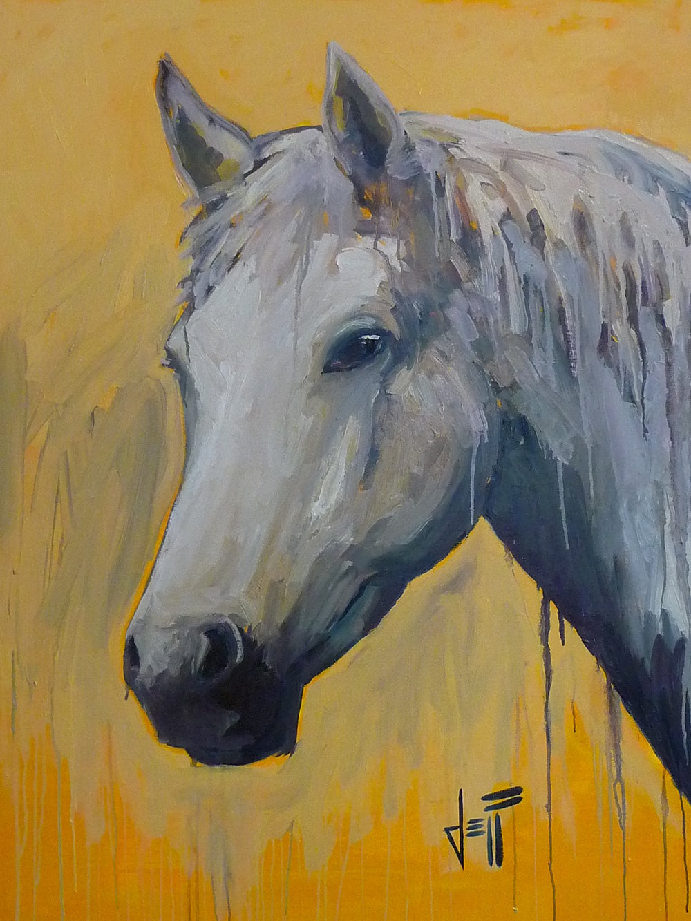 "Horse Head-acrylic on canvas 48"" x 36"" ~SOLD"