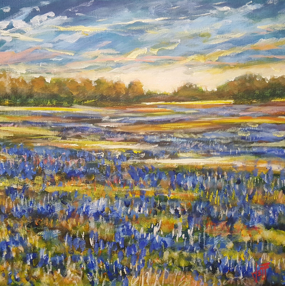 """True Blue-oil on canvas 18"""" x 18"""" ~SOLD"""