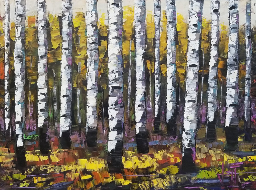 """Florid Forest-oil on canvas 30"""" x 40"""""""
