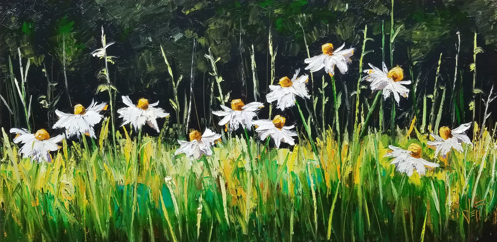 "Nature's Ballroom-oil on canvas 30"" x 60"" ~sold"