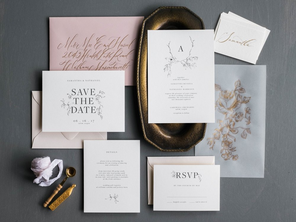 Botanique Wedding Invitation Suite