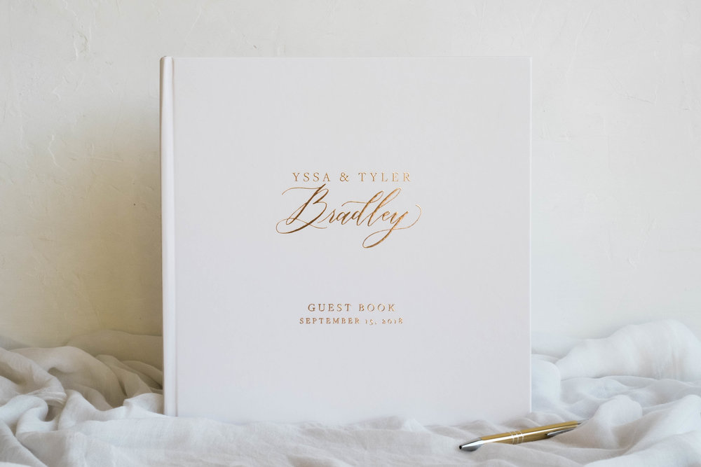 rose-gold-foil-guest-book