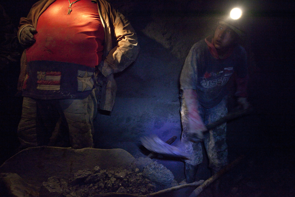 Don Pablo has a large mine he works with his sons' help, but much of the good ore was already extracted decades ago.