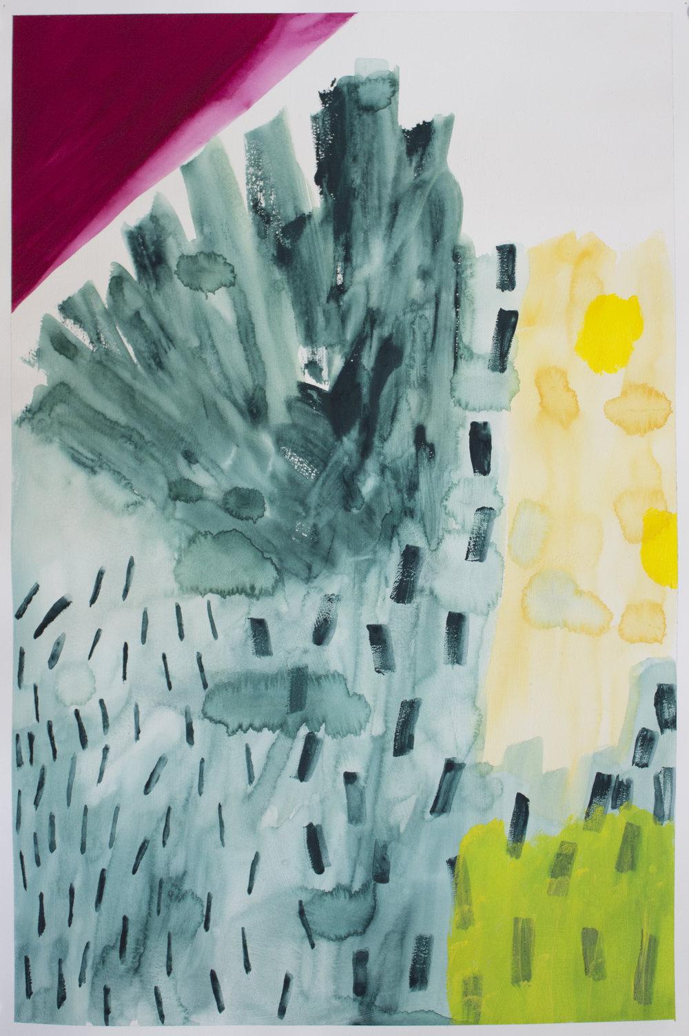 "gouache on paper  22"" x 15""  2016"