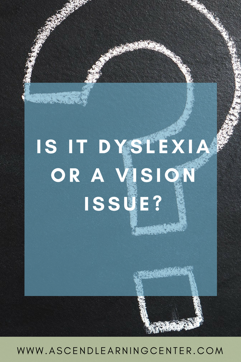 Is it Dyslexia or a vision issue?
