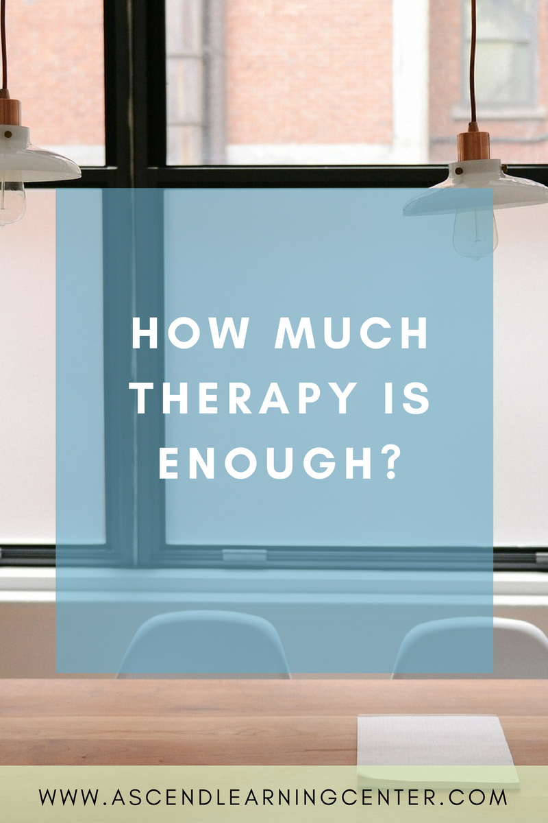How much therapy is enough?