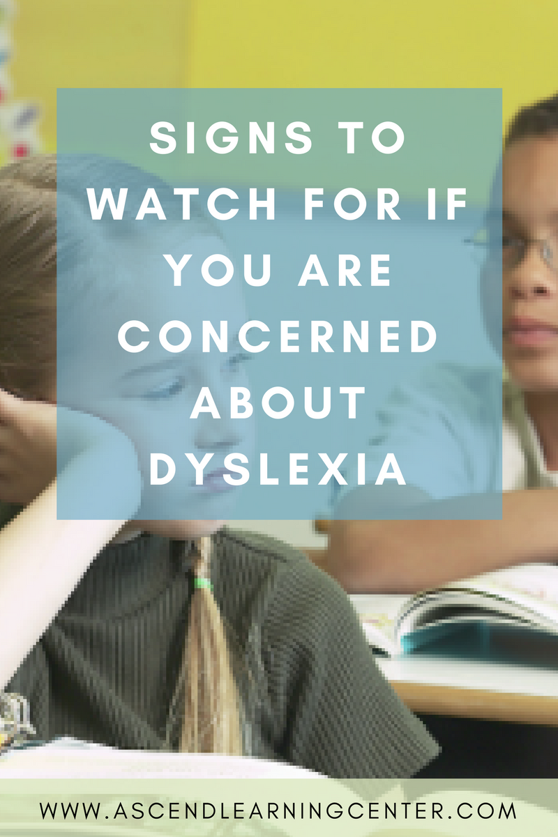 What to look for if you are worried about dyslexia.