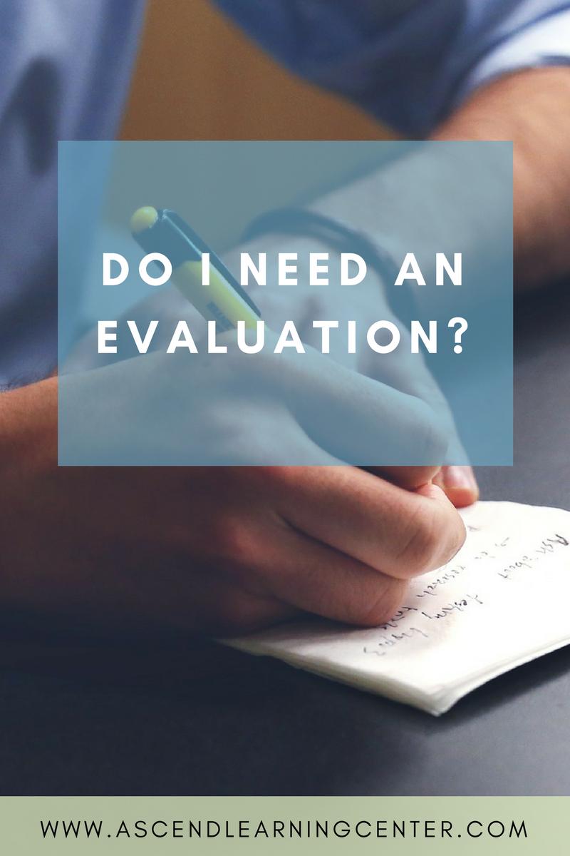 Do I need an eval?