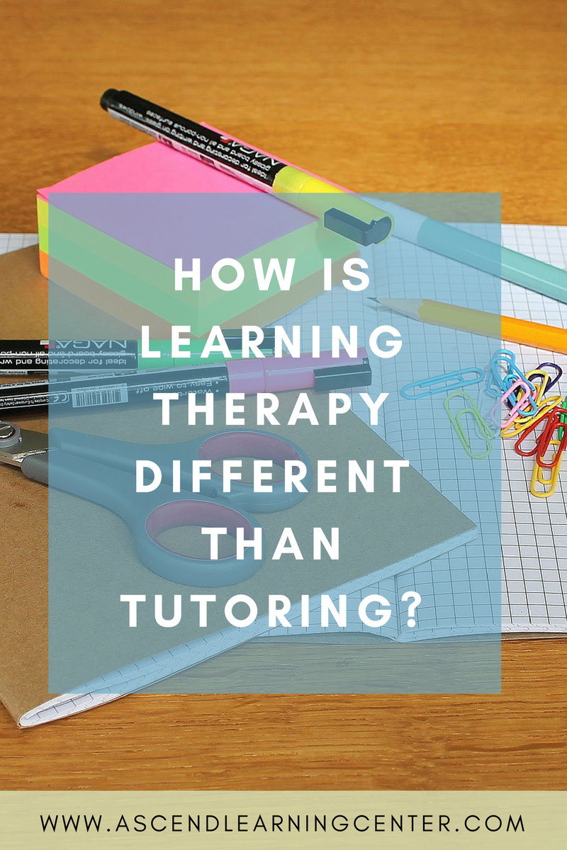 How is learning therapy different than tutoring?